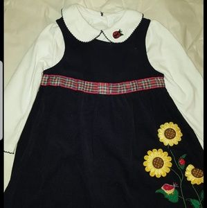 Bonnie Jean Embrodiered Dress sz 4T